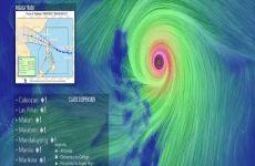La trayectoria del tifón Mangkhut en vivo, online y en tiempo real