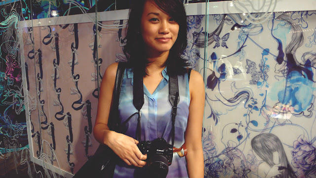 streetstyle ombre chiffon shirt james jean scarves Canon dslr
