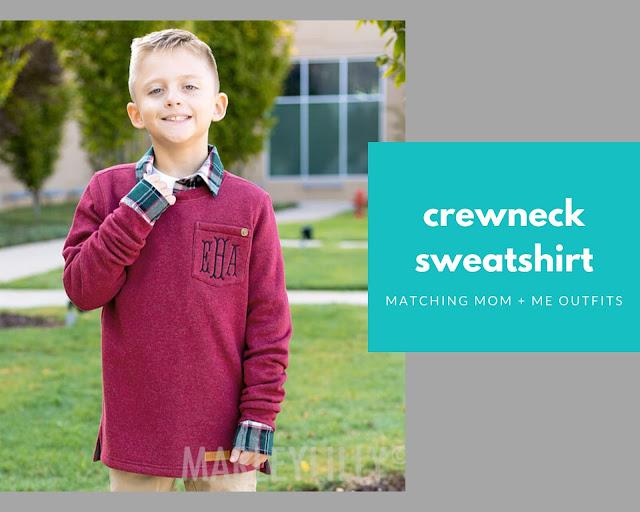 crewneck sweatshirt for boys