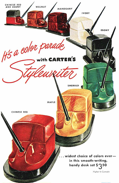 Carter's 1947 plastic inkwells, Stylewriter