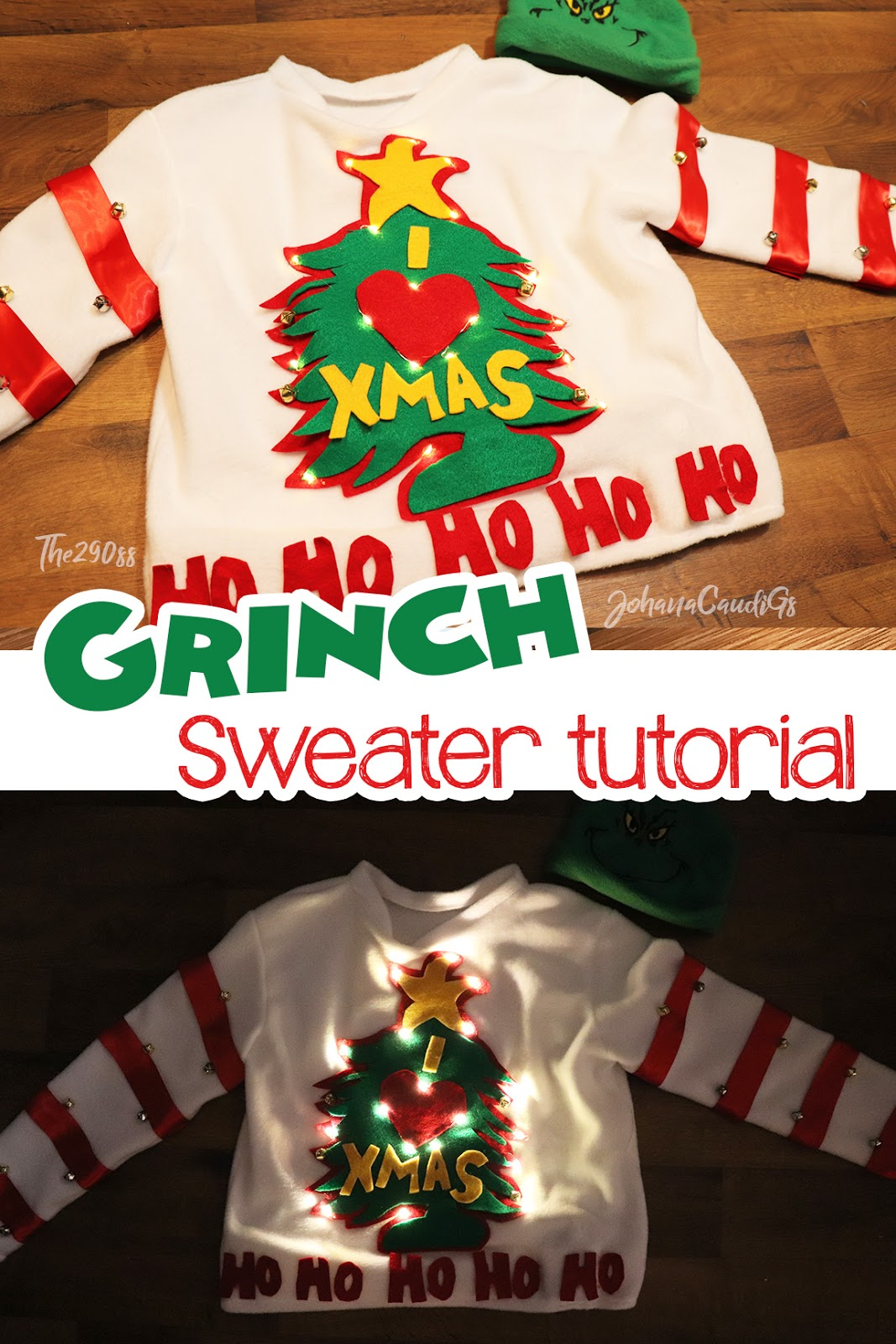 I Heart Christmas.The290ss Grinch Christmas Sweater Whoville I Heart Christmas