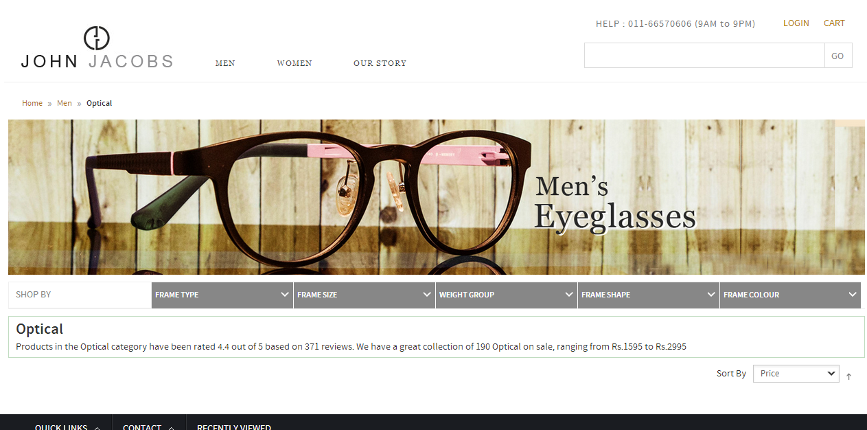 0bce4e8e560a1 John-Jacobs brand known for its contemporary blend with classic elegance  eyewear products which redefines your style. Sunglasses and Optical  Eyeglasses are ...