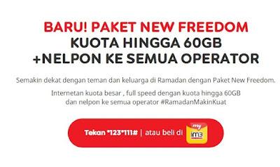 Pengguna Internet tentunya sangat menginginkan untuk membeli kuota internet murah kuota b Paket Internet Indosat Im3 Paket New Freedom Kuota Hingga 60GB+Nelpon Semua Operator