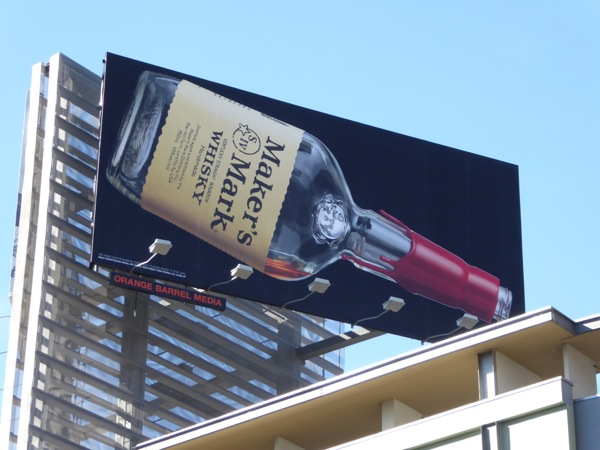 Makers Mark Whisky bottle billboard