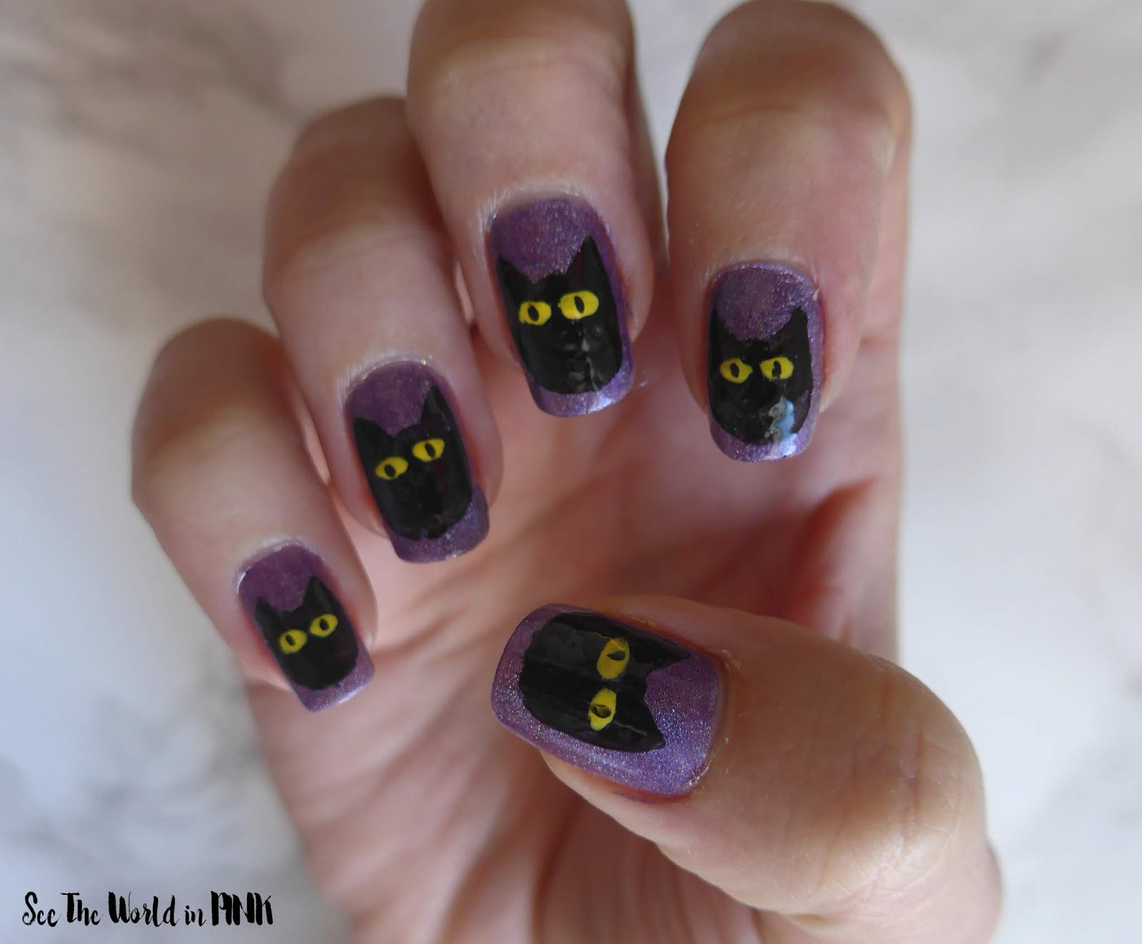 Manicure Monday - Black Cat Nail Art!