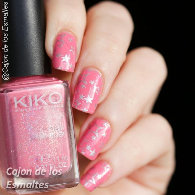 Estampado en rosa y plateado