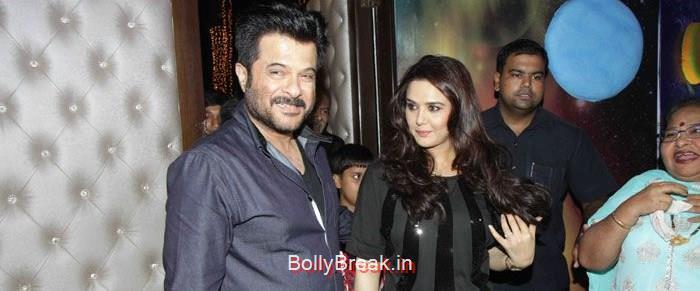 Anil Kapoor, Preity Zinta, Hot HD Images of Priety Zinta at Aakash Dingra's 7th Birthday Bash