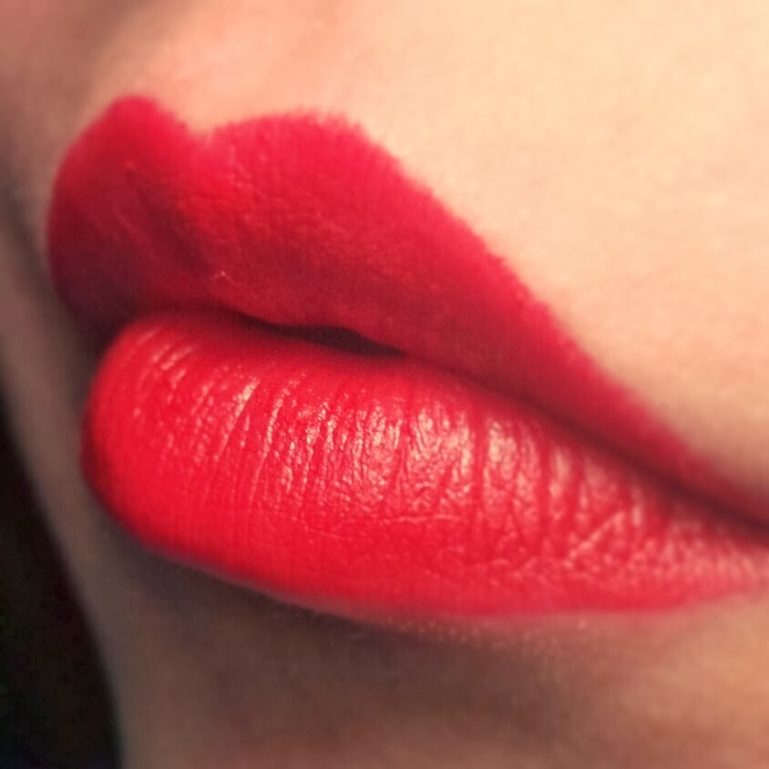 make colour scarlet top valentine's day red lipstick
