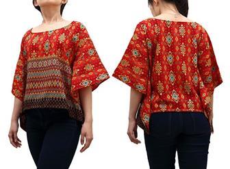 Model Blouse Batik Kombinasi Untuk Santai