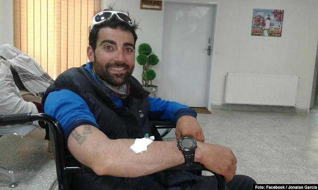 Jonatan García Villa, tras su evacuación