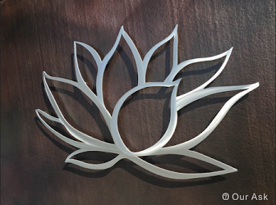 lotus flower decoration metal wall art sculptures