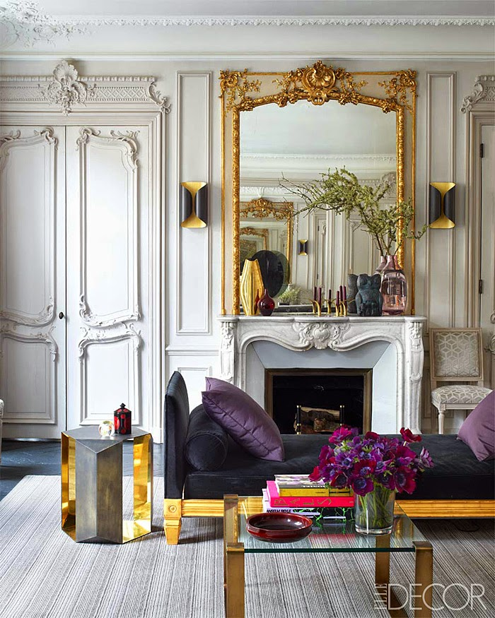 Kensington Bliss: Loving The Lucite And Brass Coffee Table