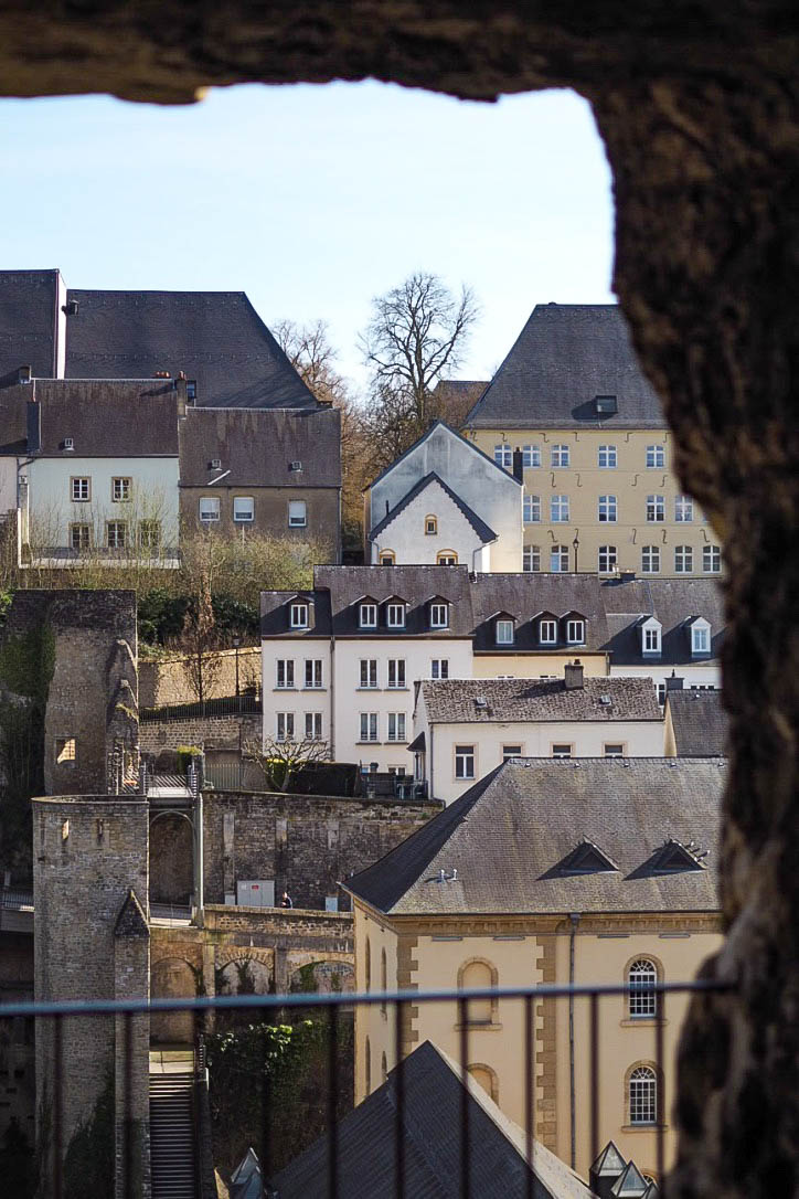 View of the Grund from Luxembourg City casements