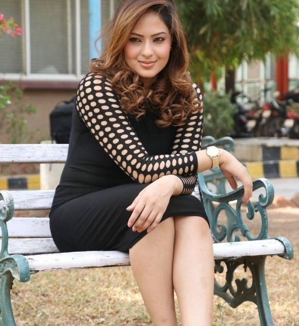 Nikesha Patel Photos In Black Suit Spicy Stills