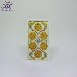 Tarot de Marseille (Heron) - 6 of Disks