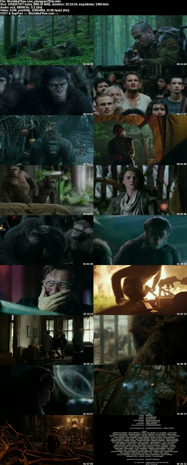free download movie war for the planet of the apes in hindi