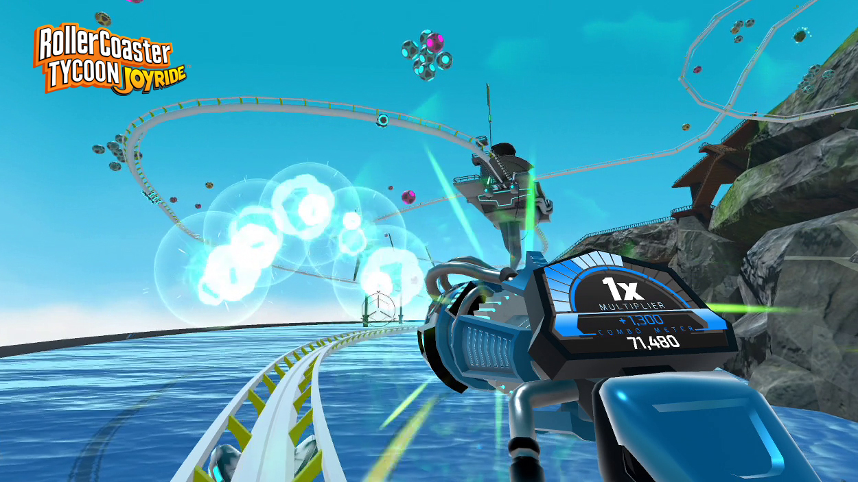 Build and Ride Breathtaking Roller Coasters in Virtual Reality in RollerCoaster Tycoon Joyride™ - Available Now Exclusively on PlayStation®4