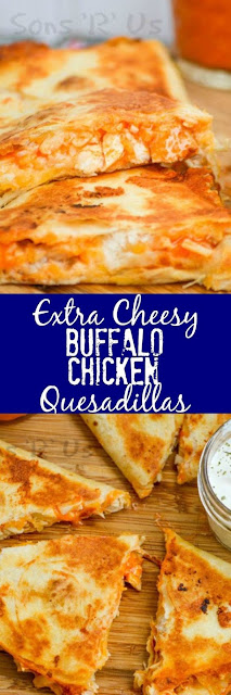Extra Cheesy Buffalo Chícken Quesadíllas