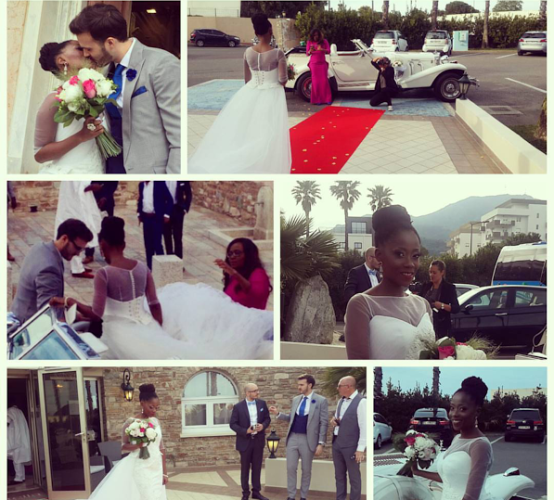 TOSYN AND HUSBAND  Aurelien Boyer IN FRANCE FOR THEIR WHITE WEDDING