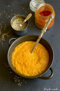 (Zupa z pieczonej marchewki
