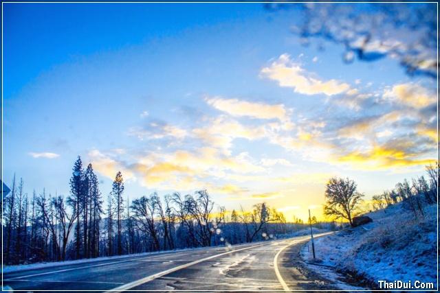 con đường mùa đông
