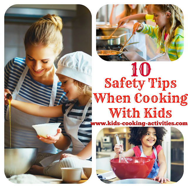 Kids cooking activities for 5 kitchen safety tips
