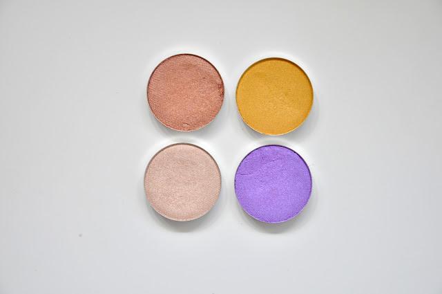 beztalkowe cienie glamshadows - western, kurkuma, perlage, ultrafiolet