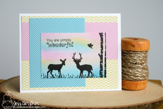 Encouragement Card by Jess Gerstner featuring Newton's Nook Serene Silhouettes #newtonsnook