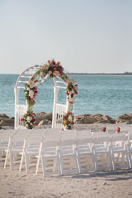 floral arch on captiva island wedding