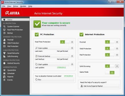 Avira Internet Security 2013 Full License Key