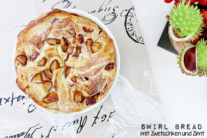 Swirl Bread mit Zwetschken und Zimt