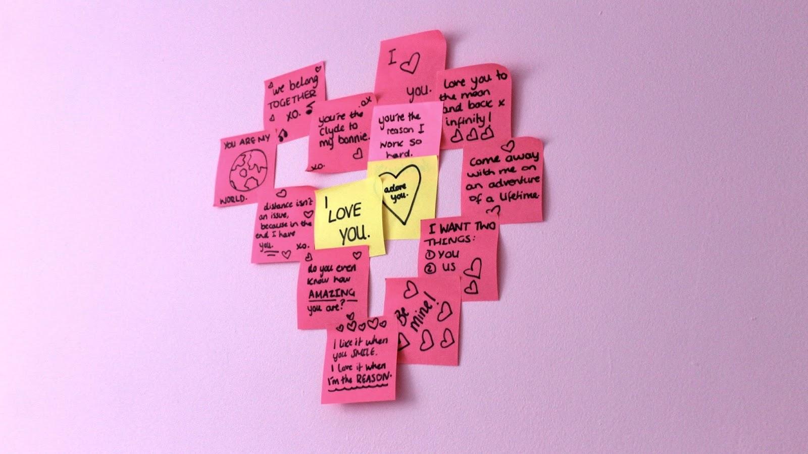 Cute Love Notes As Decor