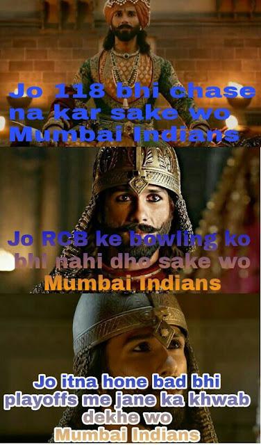 Wo Mumbai Indians ke fan hai !