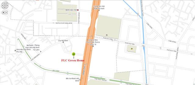 Vị trí chung cư FLC Green Home