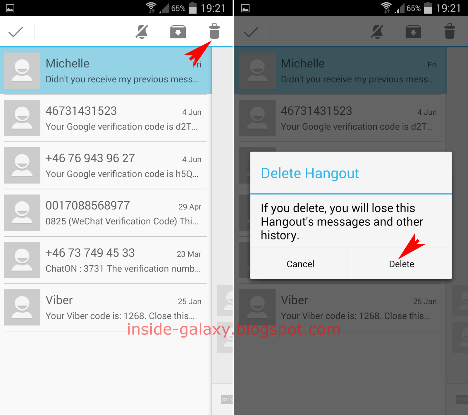 Samsung Galaxy S4: How to Delete Messages or Conversations