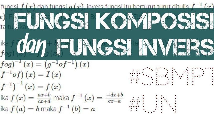 40 Soal Dan Pembahasan Matematika Dasar Fungsi Komposisi Dan Fungsi Invers Fkfi Defantri Com