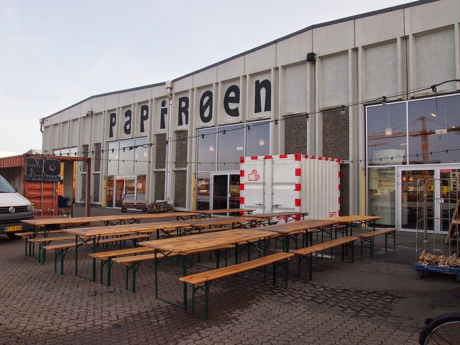 Papiroen street food  market in Copenhagen
