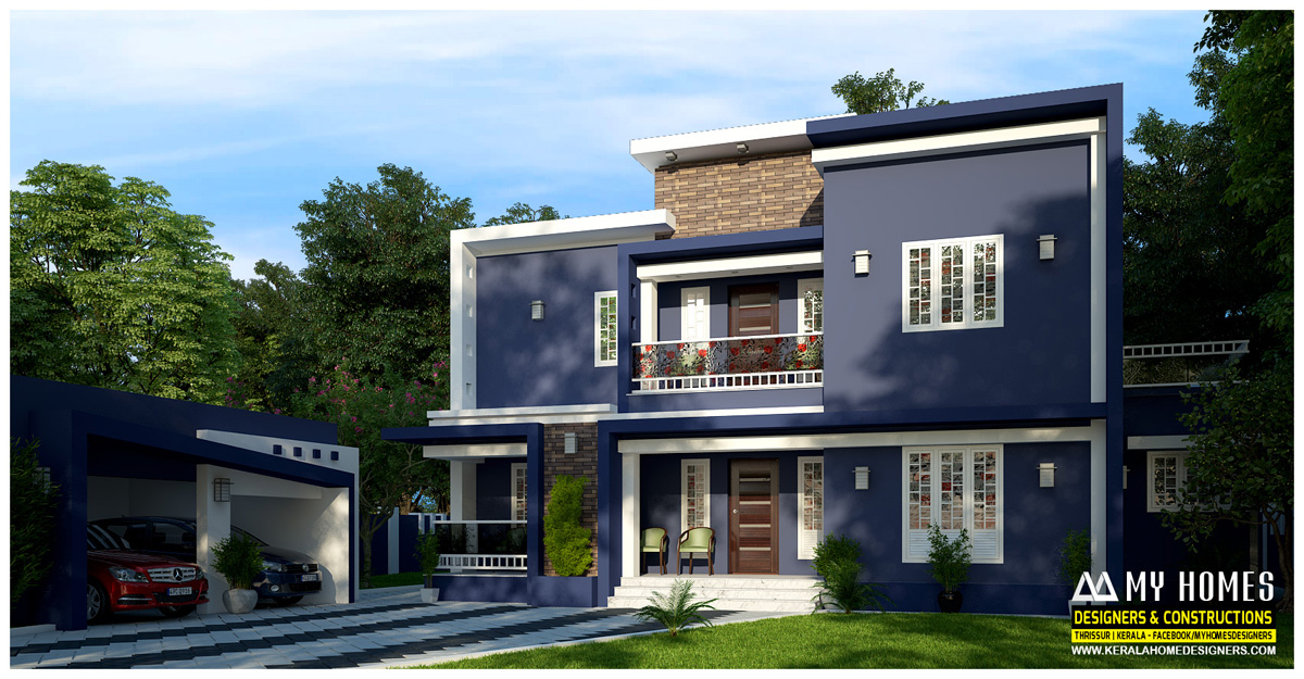 4 bedroom house plan kerala style 4