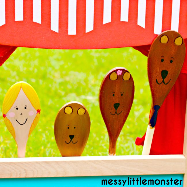 Goldilocks and the three bears fairy tale craft idea for kids