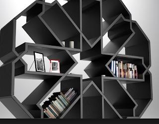 desain lemari buku minimalis