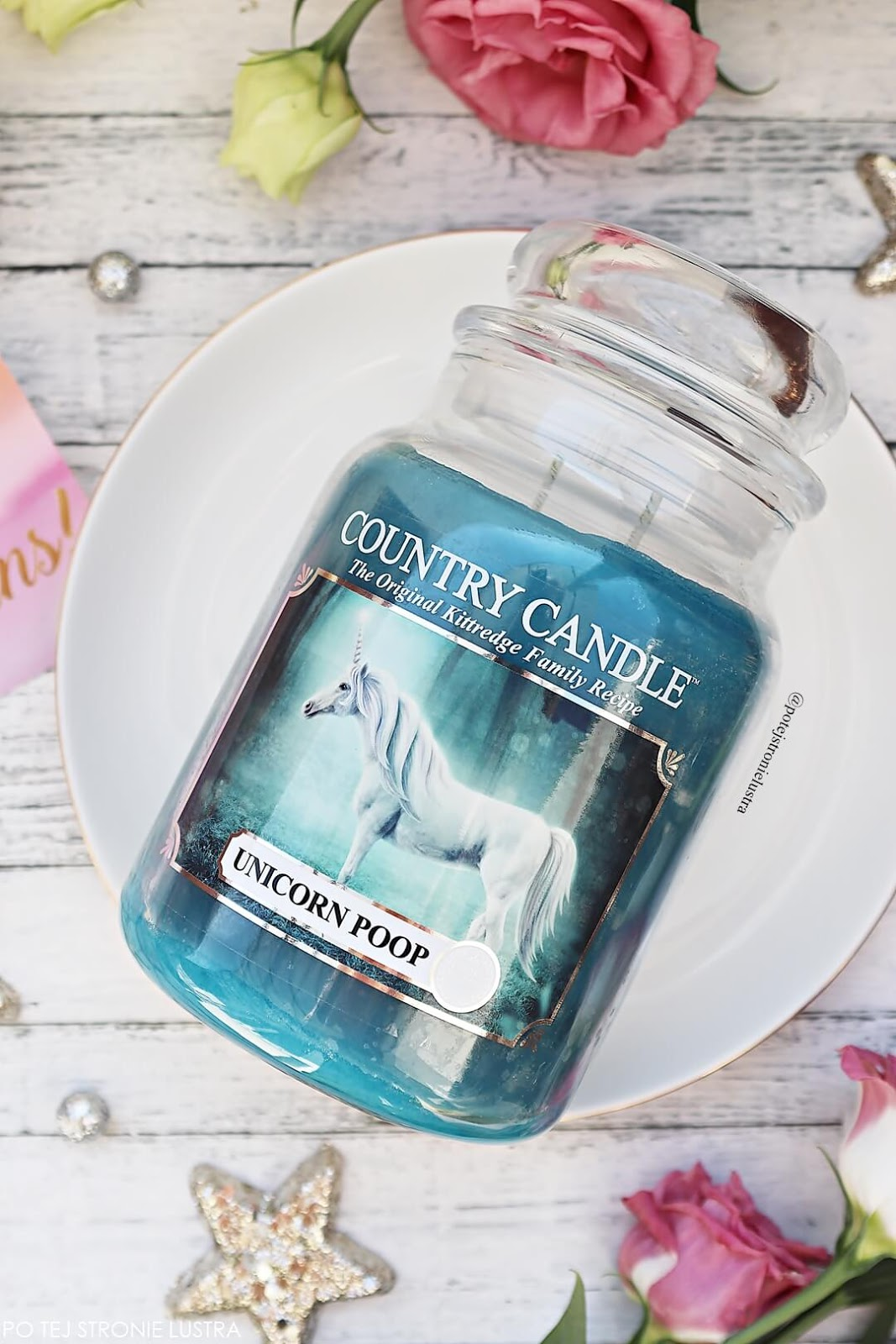 świeca o zapachu kupy jednorożca country candle unicorn poop