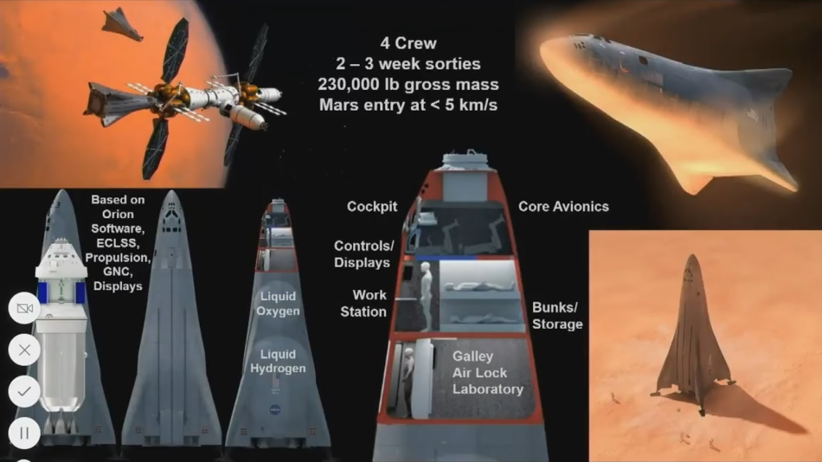 Lockheed Martin Mars lander concept for Mars Base Camp