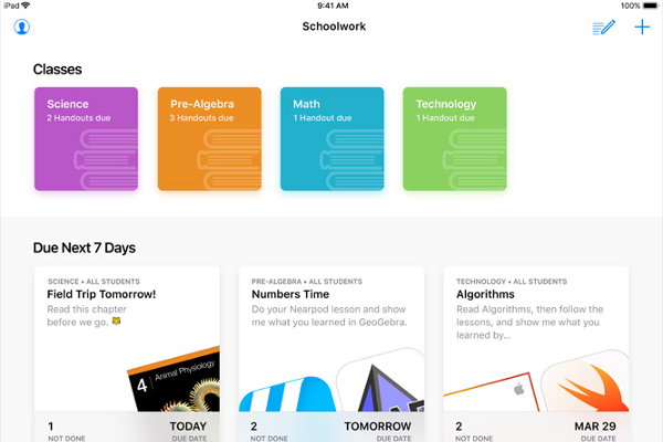 Apple Schoolwork app lands on iPad, Easily create assignments, collaborate one-on-one with students and more