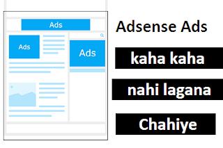 Adsense Ka Ads Kaha Kaha Nahi Lagana Chahiye