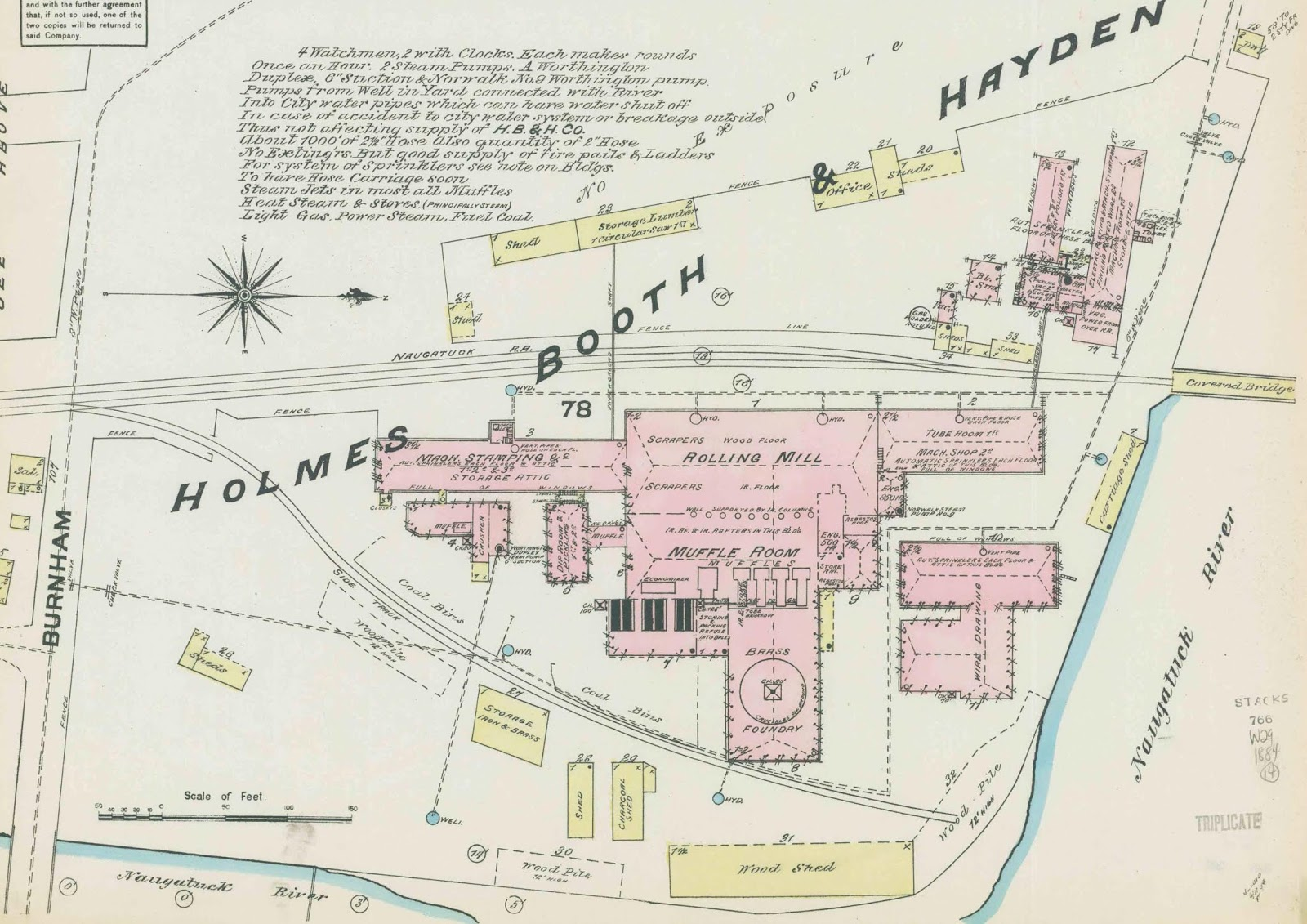 sanborn fire insurance map 1884 burnham street was later renamed washington avenue