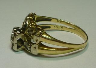 karat marking on gold ring jewelry