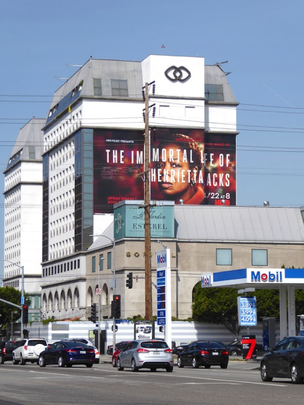 Immortal Life of Henrietta Lacks giant film billboard