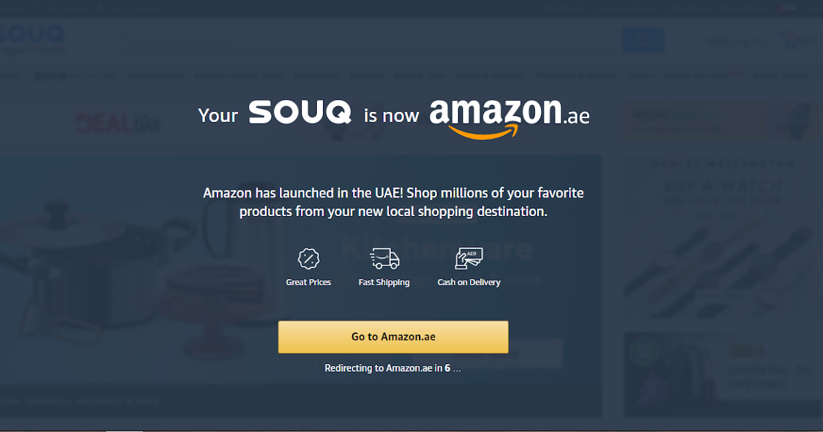 SOUQ BECOMES AMAZON.AE IN THE UAE