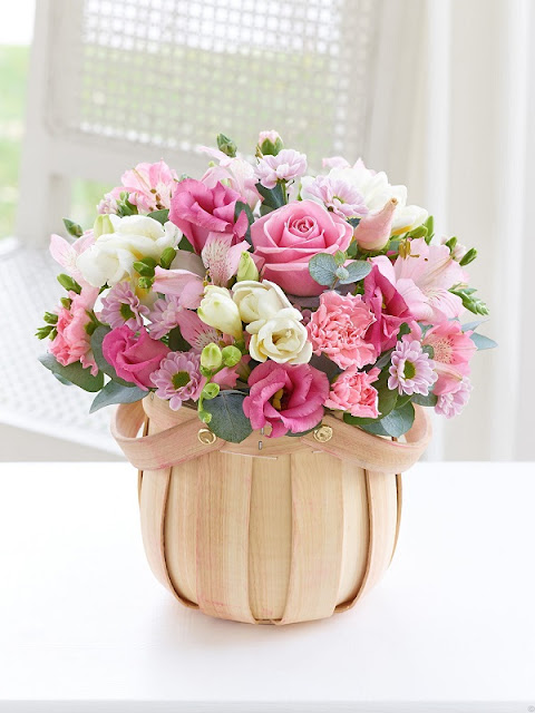 hoa sinh nhật màu hồng