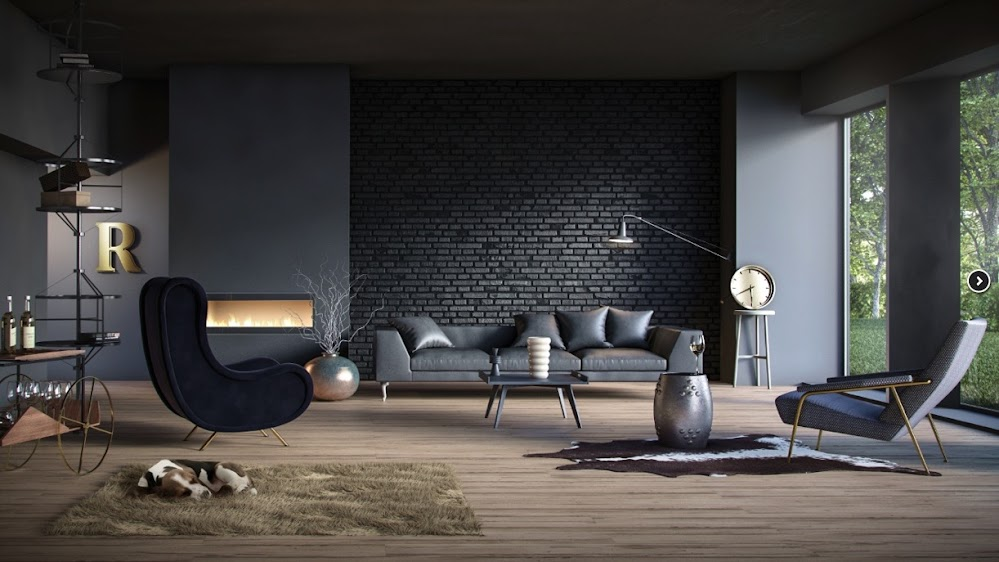black-living-room-ideas